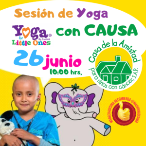 Sesión de yoga con causa